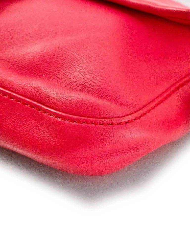 Fendi Pink Leather Baguette Bag 1
