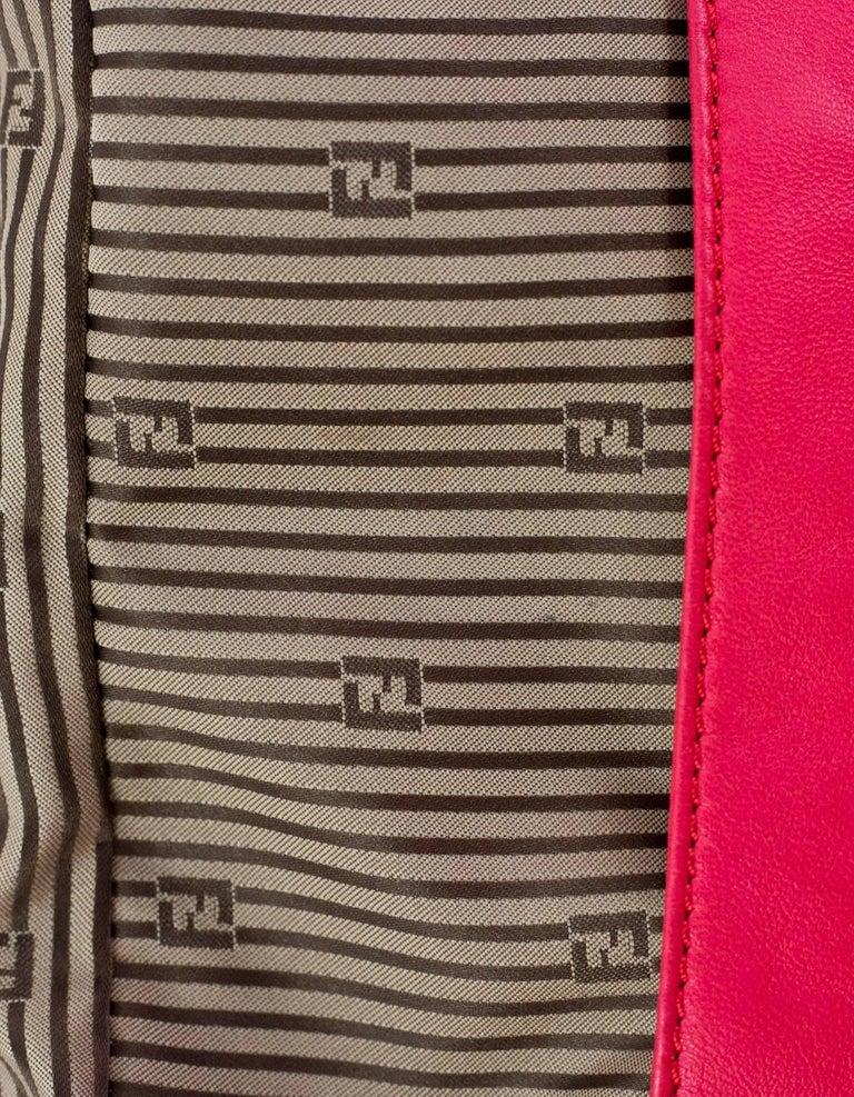 Fendi Pink Leather Baguette Bag 2