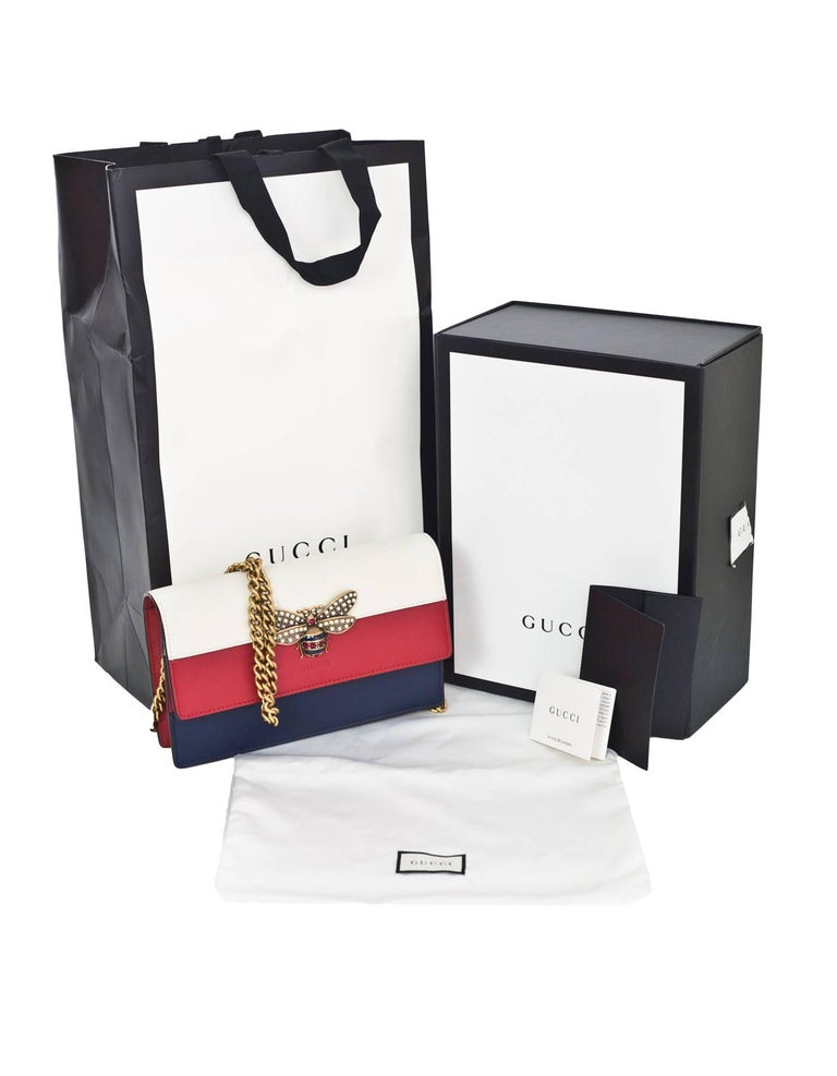 2e7edb90aa7d Gucci Tri-Color Queen Margaret Bee Mini Bag with Box and DB For Sale ...