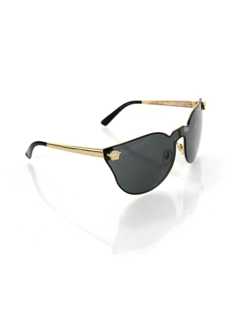 8d264e685454 Versace Black Medusa Cat-Eye Sunglasses Made In: Italy Color: Black, gold