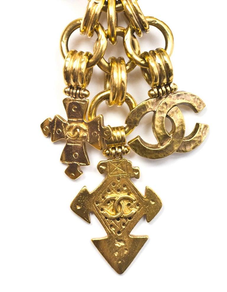 Chanel Vintage '90s Gold Charm Chainlink Belt/Necklace Sz ...