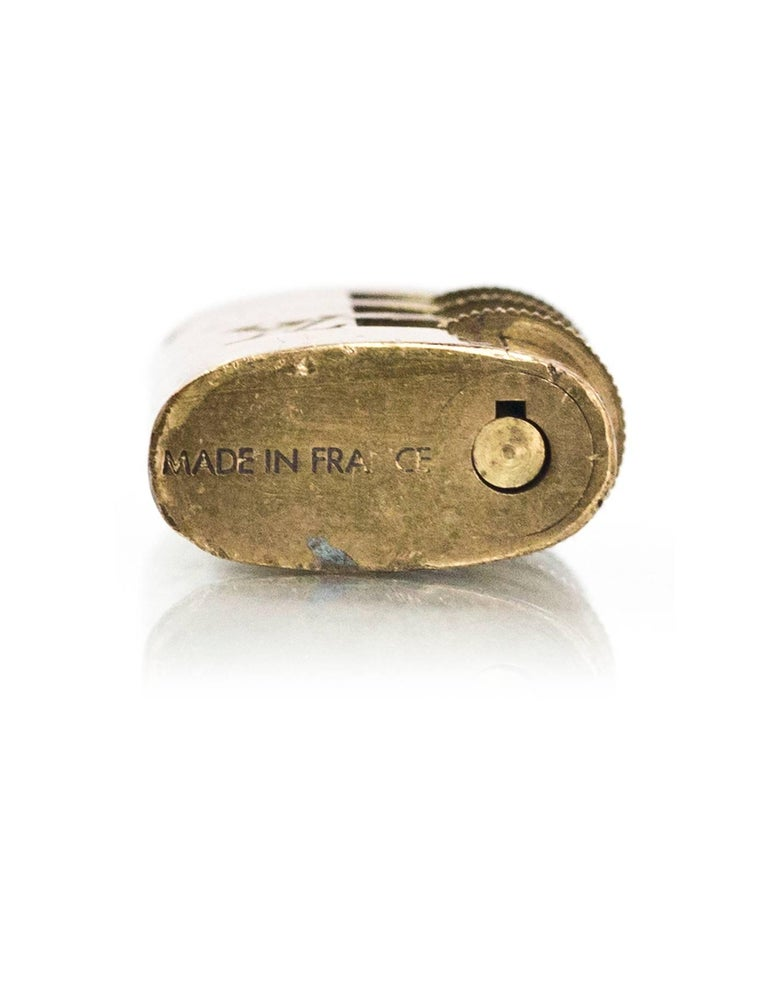 Beige Louis Vuitton Vintage Brass Combination Lock For Sale