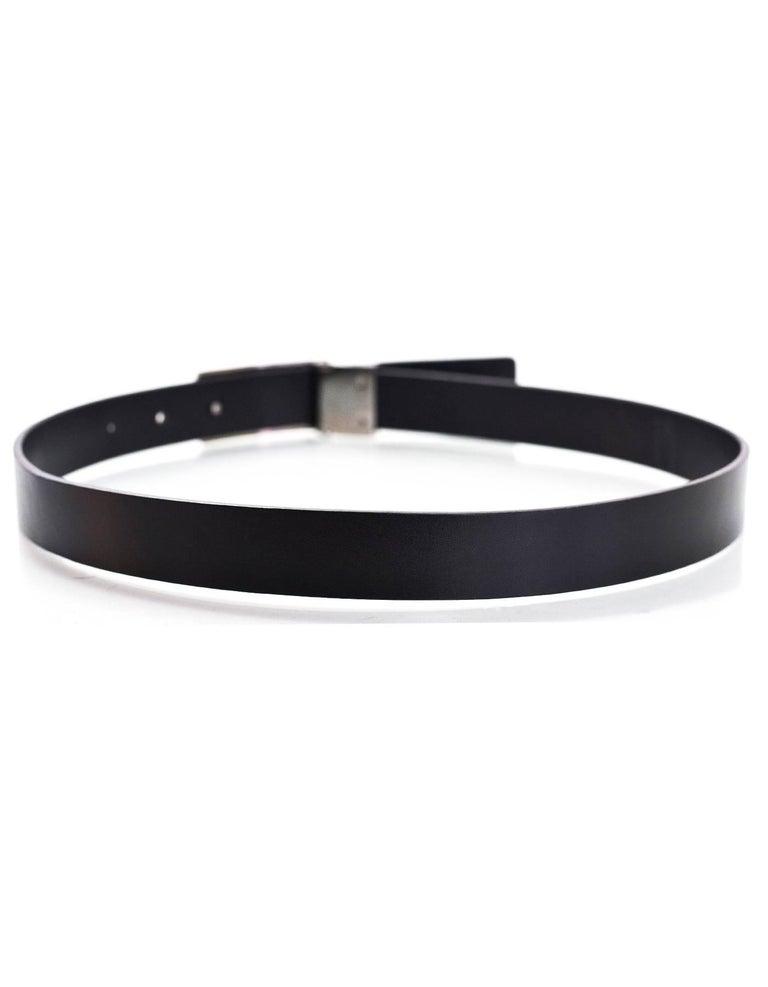 gucci black leather g belt sz 70 for sale at 1stdibs