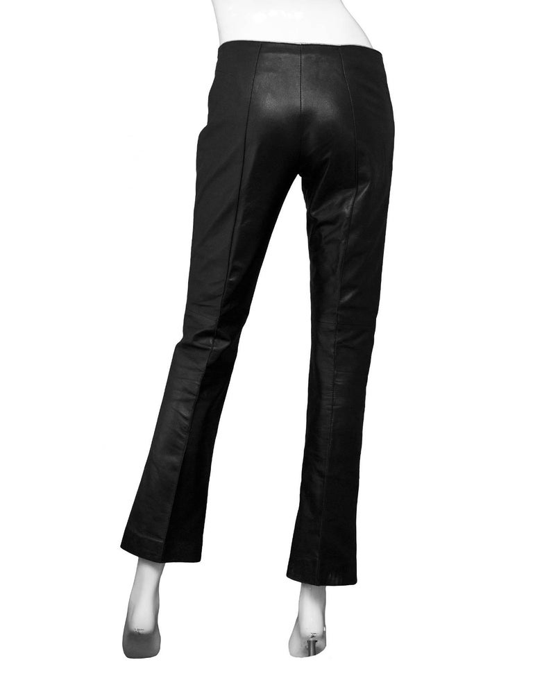 hot-selling hot-selling clearance how to find Joseph Black Leather Pants sz XS