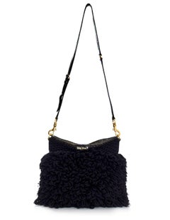 Miu Miu Black Wool Knit Crossbody Bag