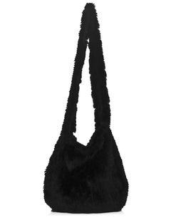 Michael Kors Black Rabbit Fur Crossbody Bag