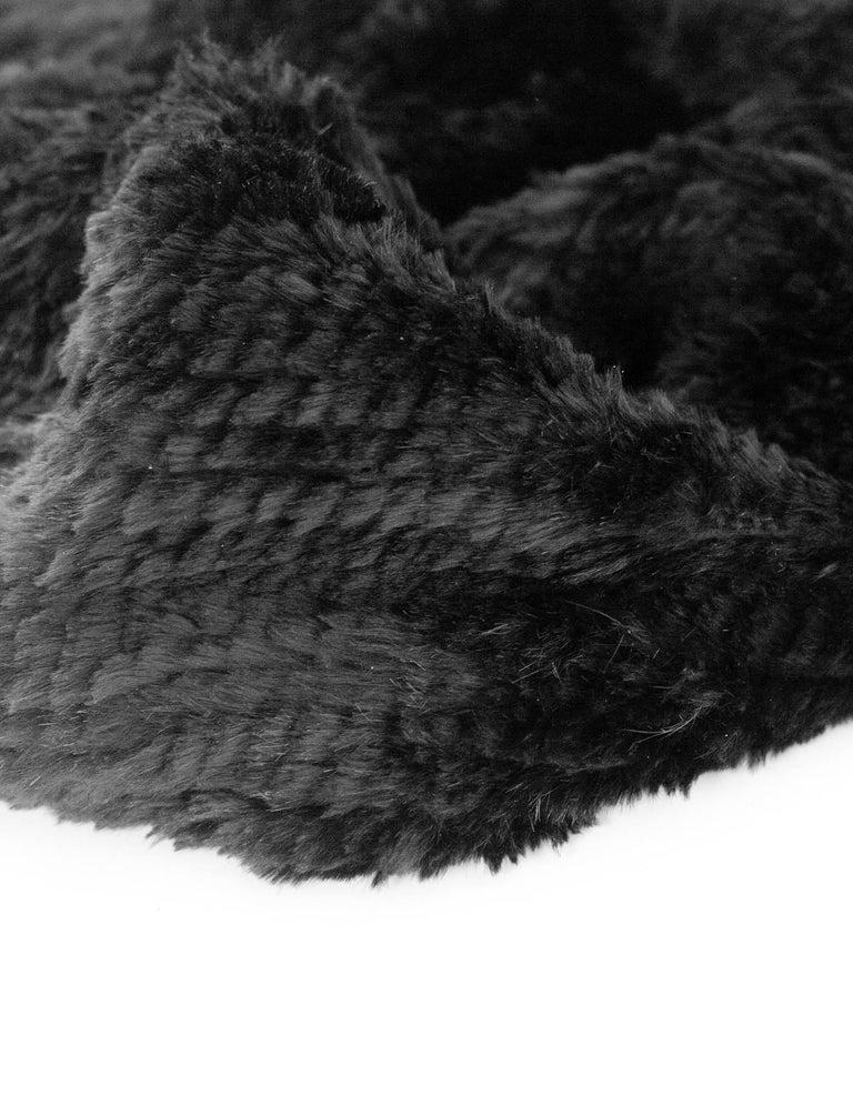 Michael Kors Black Rabbit Fur Crossbody Bag In Excellent Condition For New York