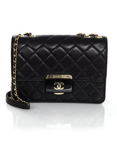 Chanel 2016 Black Quilted Sheepskin Large Beauty Lock Flap Bag rt. $3,800