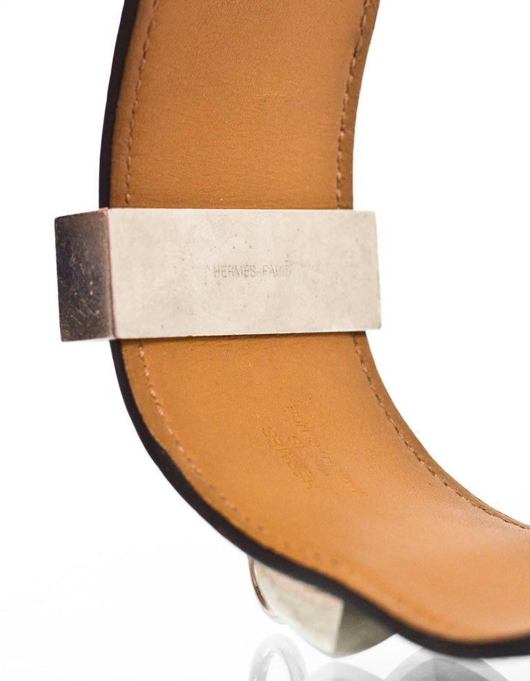 Hermes Black Leather CDC Cuff Sz S For Sale at 1stdibs