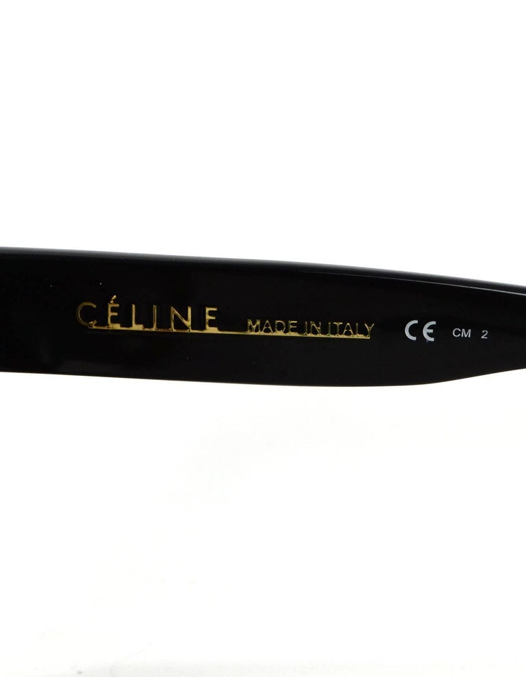 eea7316a317 Celine Flat Top Shadow Sunglasses with Case For Sale at 1stdibs