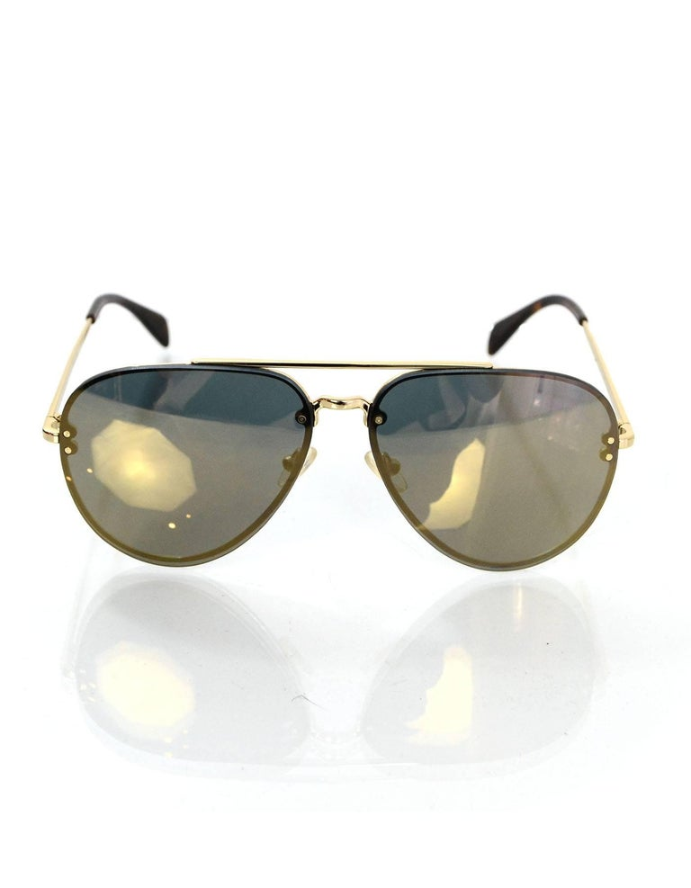 aeaab75f4015 Celine Gold Mirrored Aviator Sunglasses In Excellent Condition For Sale In New  York