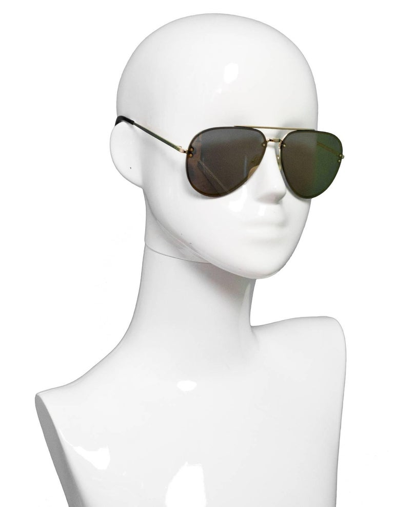 f6a09db17946 Celine Gold Mirrored Aviator Sunglasses Made In  Italy Color  Gold  Materials  Metal Overall