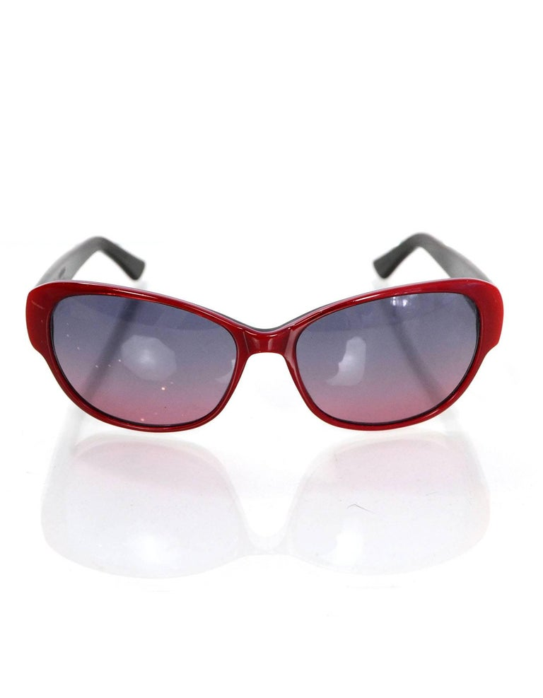 6c092aac8ba2c Judith Leiber Red Pave Crystal Sunglasses with Case For Sale at 1stdibs