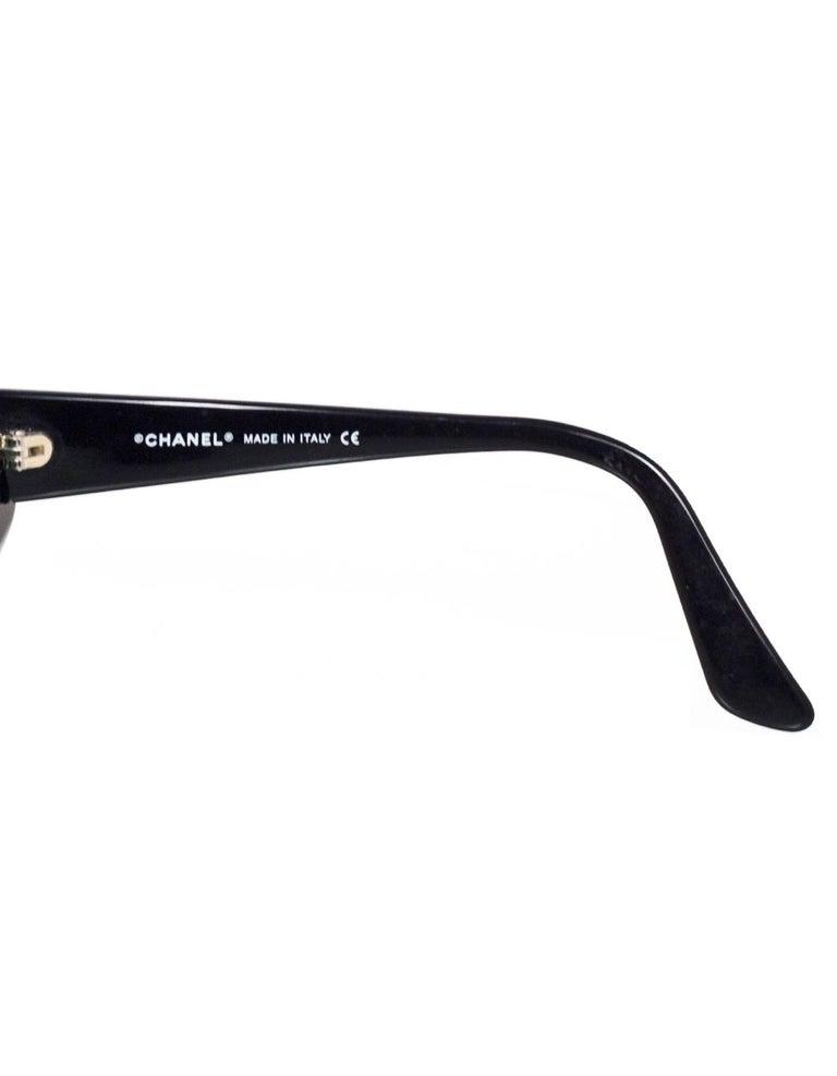 Chanel Rare Vintage Black and Ivory CC Graffiti Sunglasses 2