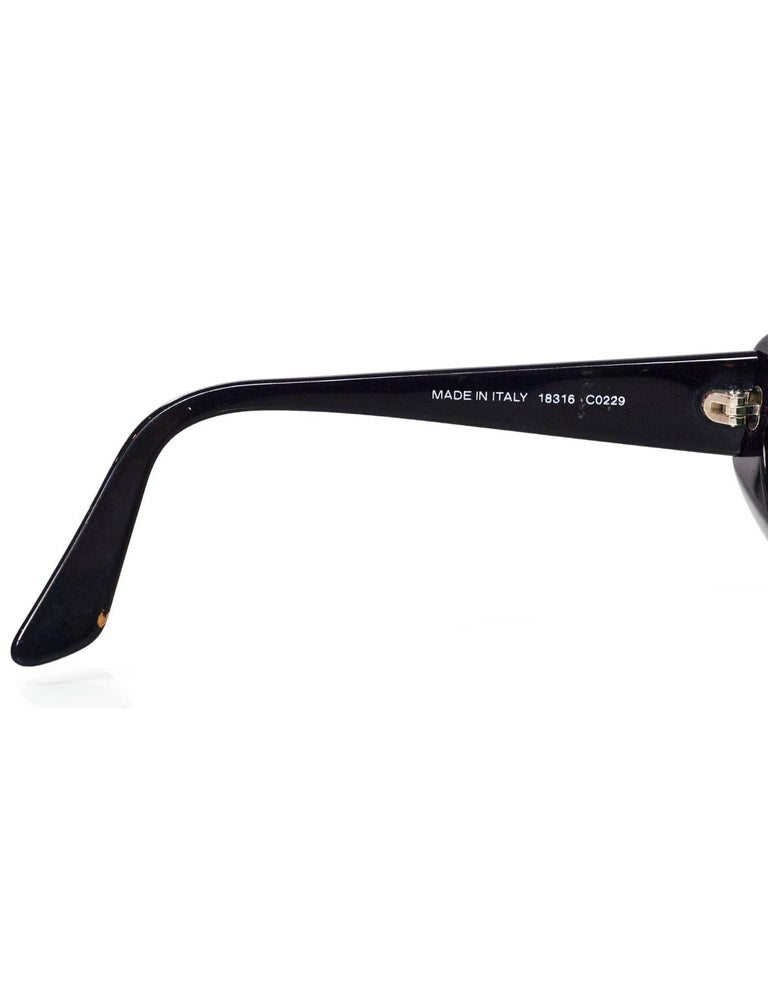 Chanel Rare Vintage Black and Ivory CC Graffiti Sunglasses 3