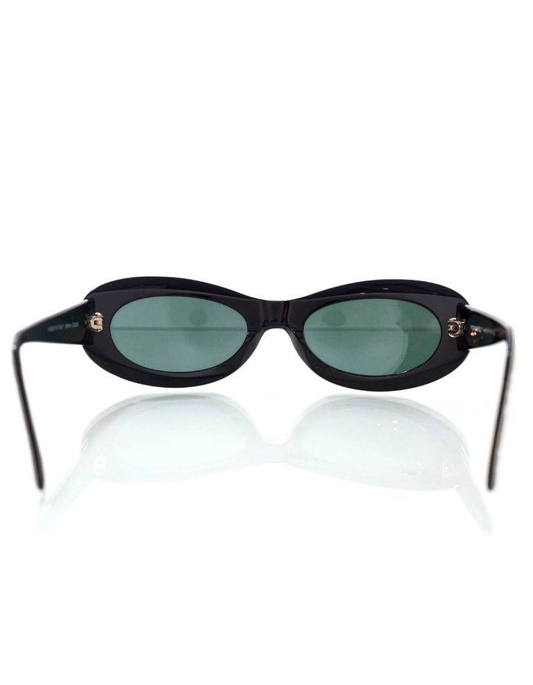Chanel Rare Vintage Black and Ivory CC Graffiti Sunglasses 1