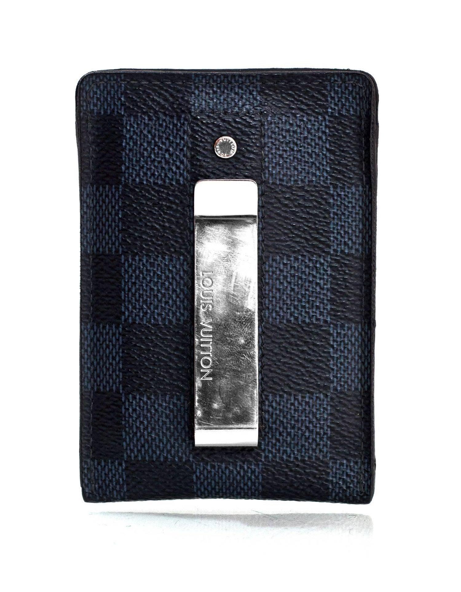 Louis Vuitton Men s Damier Cobalt Card Holder Money Clip SHW For Sale at  1stdibs 8402bb282cbb3
