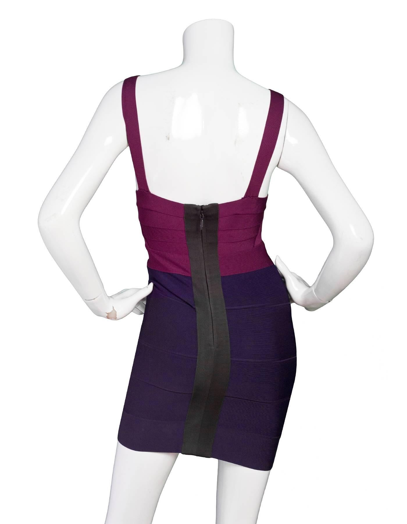 Purple Bandage Dress