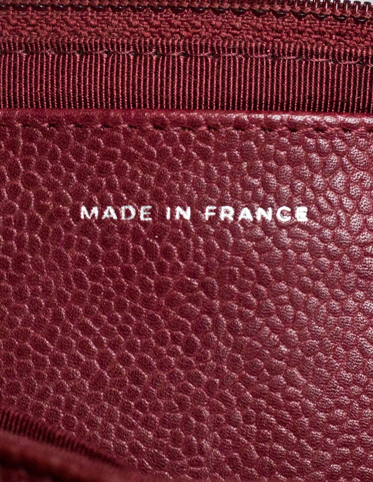 4f36e2aa43c9 Chanel Burgundy Caviar Leather CC Half Moon WOC Wallet on a Chain Crossbody  Bag For Sale