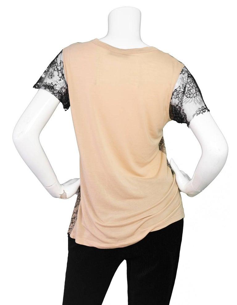 Beige Valentino Black & Tan Lace Top Sz S For Sale