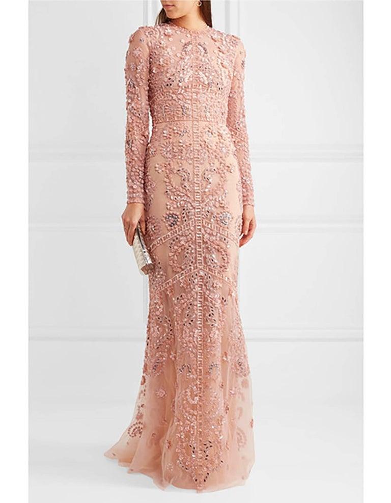 Zuhair Murad Blush Beaded Silk-Tulle Gown Sz US10 NWT For ...