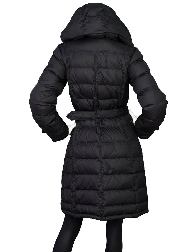 Burberry Brit Black Puffer Jacket Sz S For Sale At 1stdibs