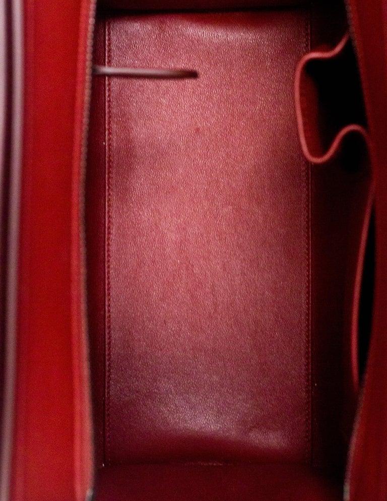 Celine 2016 Merlot & Purple Felt Micro Luggage Tote Bag rt. $3,400 For Sale 1