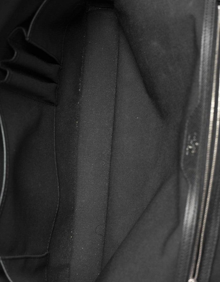 b80fe83f685a Louis Vuitton Black Taiga Leather Briefcase Laptop Computer Bag For Sale 2