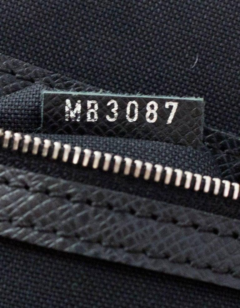 86e69a1eb6c3 Louis Vuitton Black Taiga Leather Briefcase Laptop Computer Bag For Sale 5