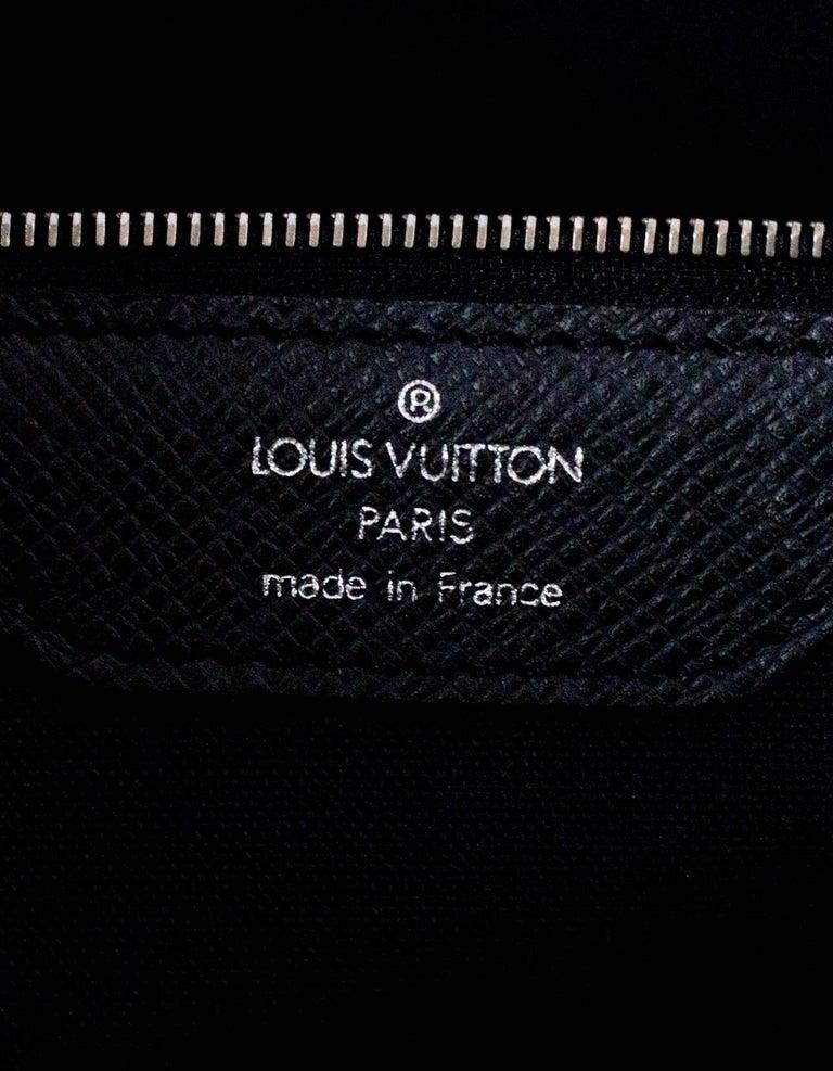 01eb81dc60ab Louis Vuitton Black Taiga Leather Briefcase Laptop Computer Bag For Sale 6