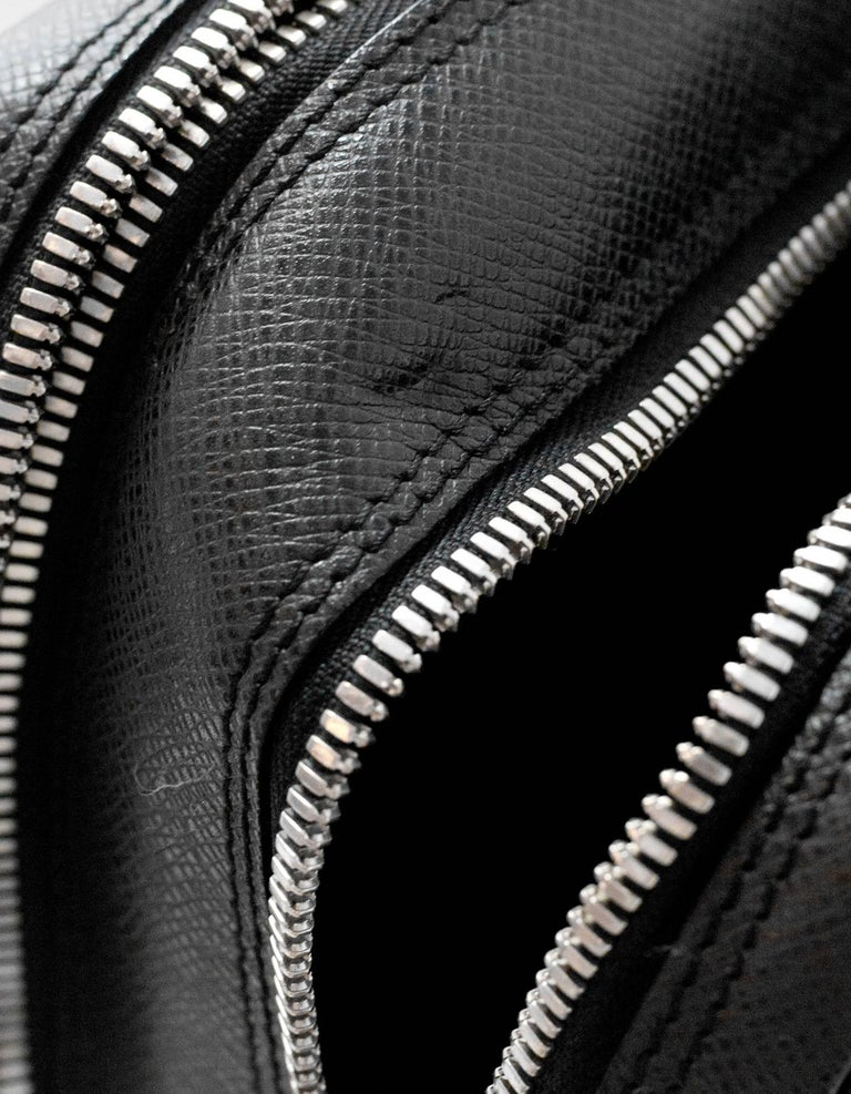 4b34d6195ac0 Louis Vuitton Black Taiga Leather Briefcase Laptop Computer Bag For Sale 4