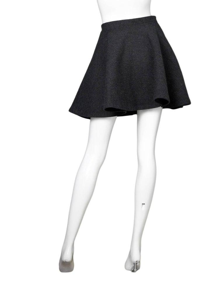 429bd791906c Miu Miu Grey Wool Zipper Skirt Sz IT38 For Sale at 1stdibs