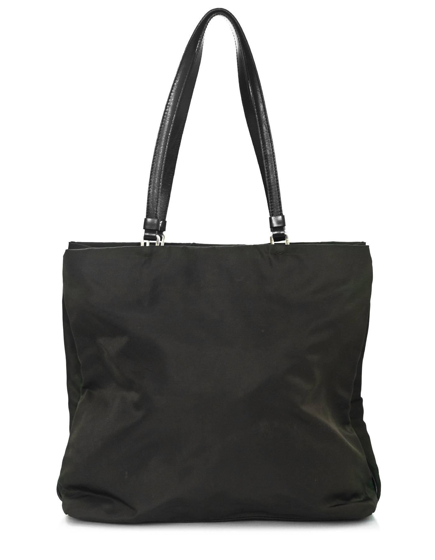 d4d5e7985695 discount code for prada tessuto nylon tote bag 15b06 a0e9d  best price  black prada dark green tessuto nylon tote bag for sale 29fa4 927f9