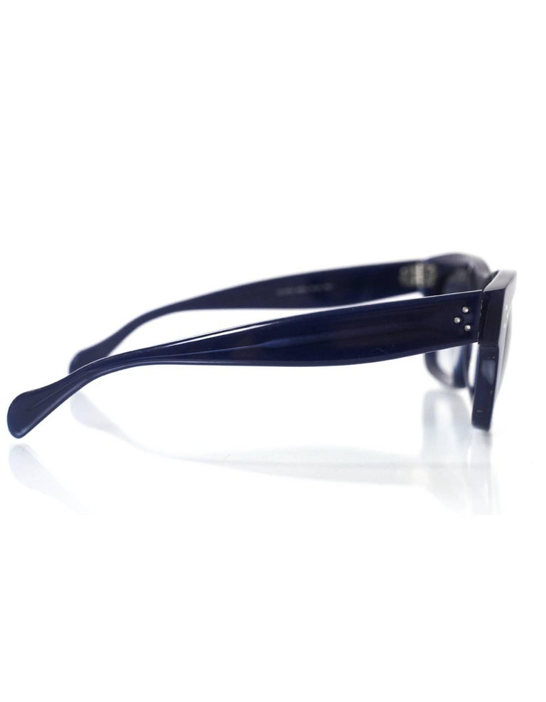 daf7f2e02fe6 Celine Navy CL 41732 Sunglasses with Case In Excellent Condition For Sale  In New York