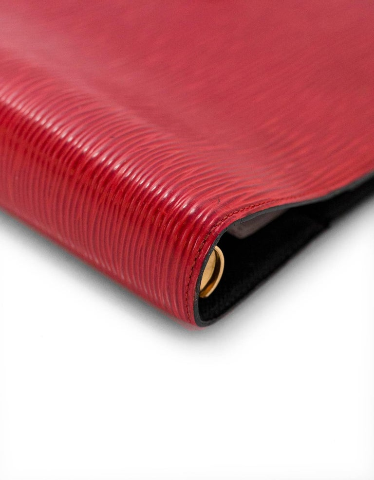 Louis Vuitton Red Epi Leather Large Ring Agenda Book 3