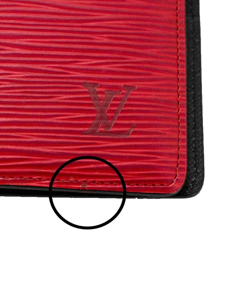 Louis Vuitton Red Epi Leather Large Ring Agenda Book 6