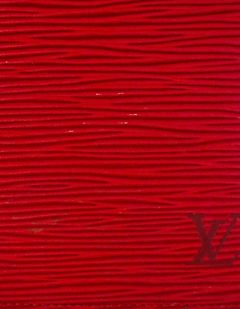 Louis Vuitton Red Epi Leather Large Ring Agenda Book 5