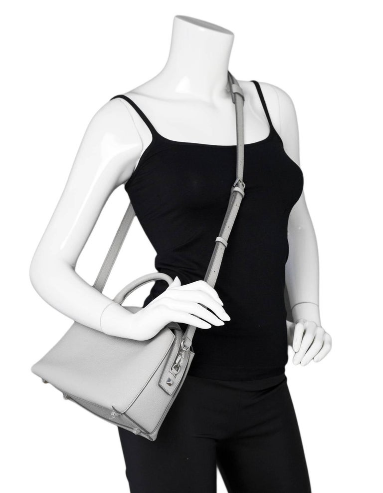 32265d444846fe MCM Grey Leather Ella Boston Bowler Bag with DB For Sale at 1stdibs