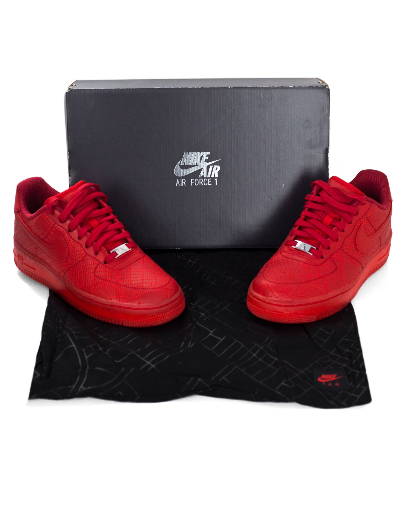 Nike Limited Edition Red WMNS City Collection Air Force 1 Sneakers Sz 7.5  NIB For Sale at 1stdibs 7b617f707aaa