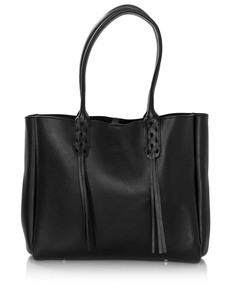 Lanvin Black Leather Fringe Tote Bag For 2