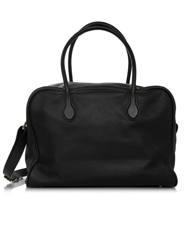 Balmain Black Leather Pierre Satchel Bag With Strap For 1