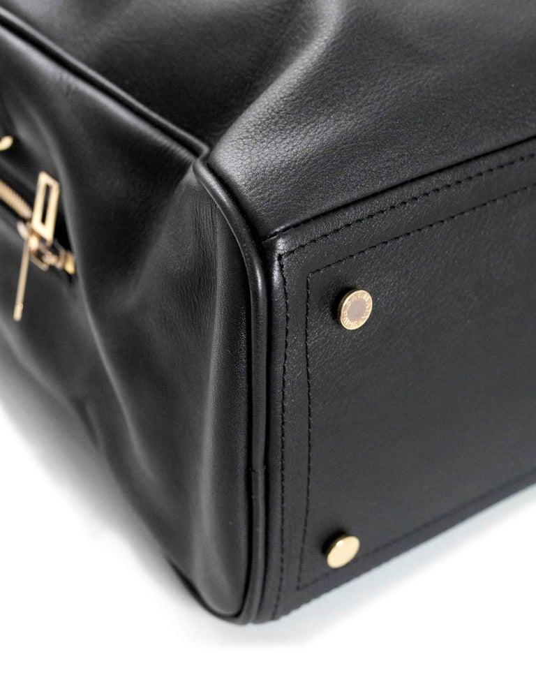 5296a04de6 Balmain Black Leather Pierre Satchel Bag with Strap For Sale 2