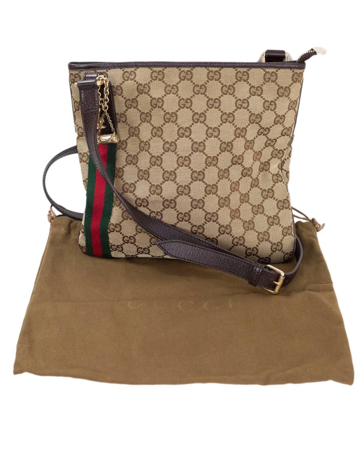 bd07a1803 Gucci Monogram and Web Jolicoeur Charms Messenger Bag For Sale at 1stdibs