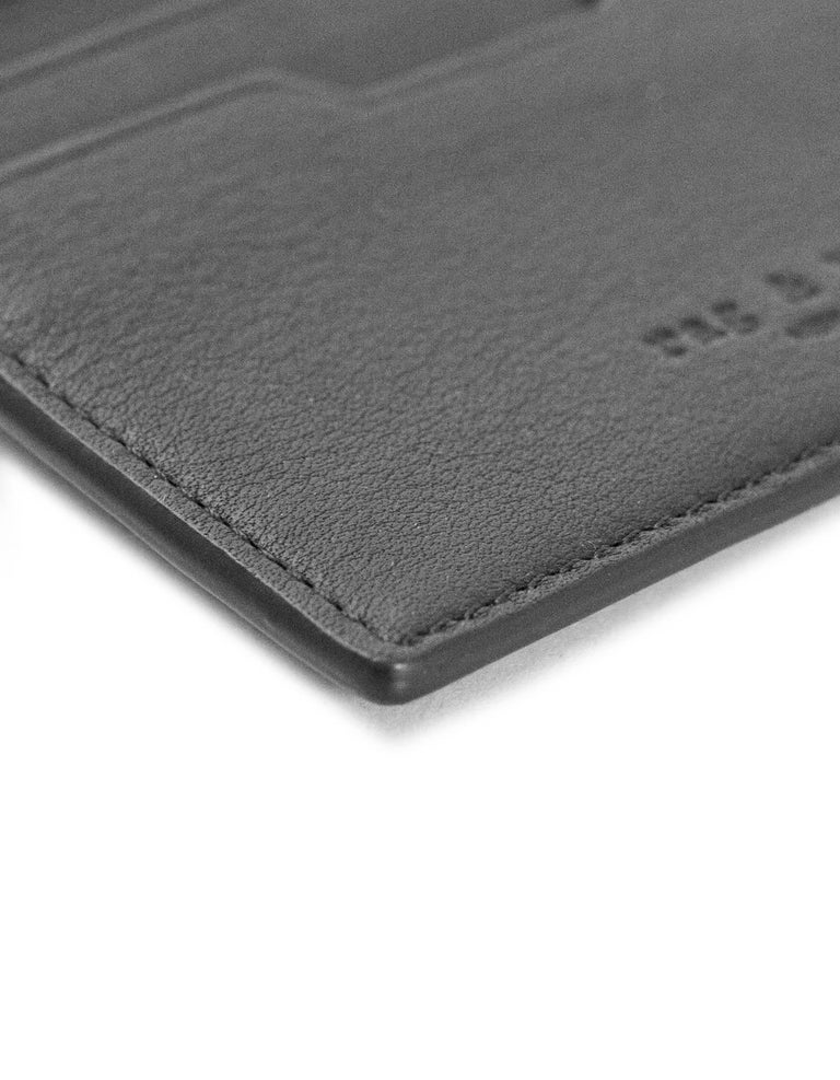 Women's or Men's Rag & Bone Black Leather Card Holder For Sale