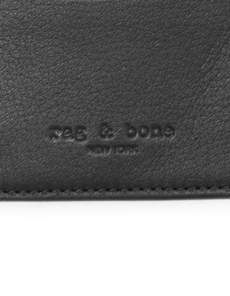 Rag & Bone Black Leather Card Holder For Sale 2
