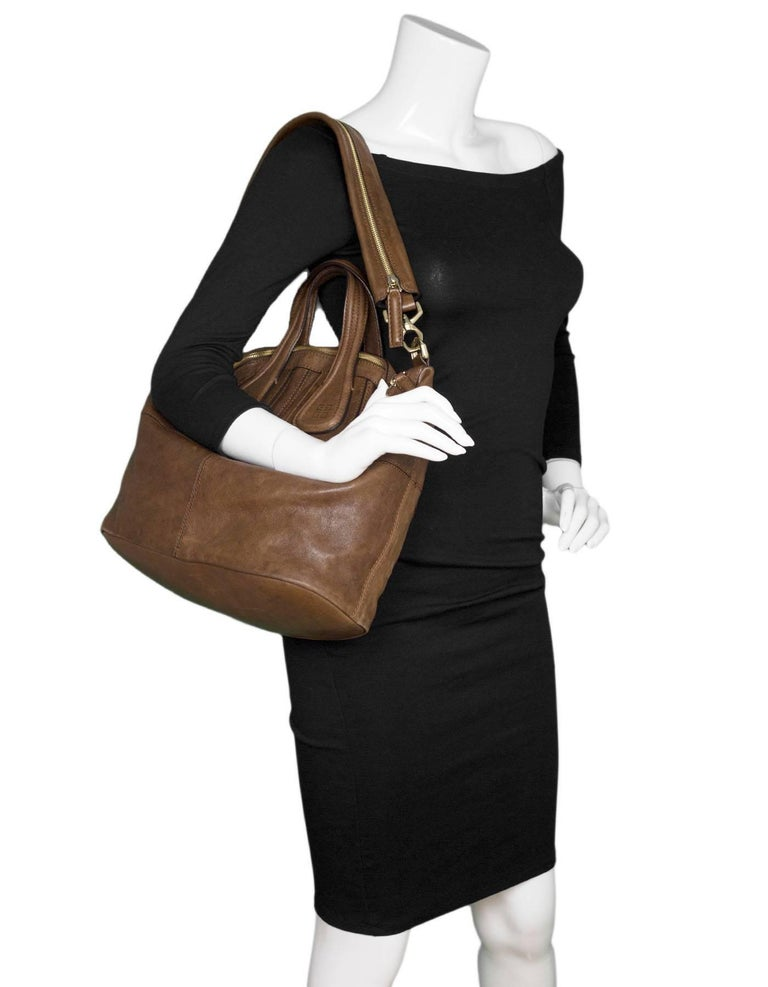 Givenchy Brown Leather Medium Nightingale Satchel Bag Made In  Italy Year  of Production  2014 7bf5009a76676