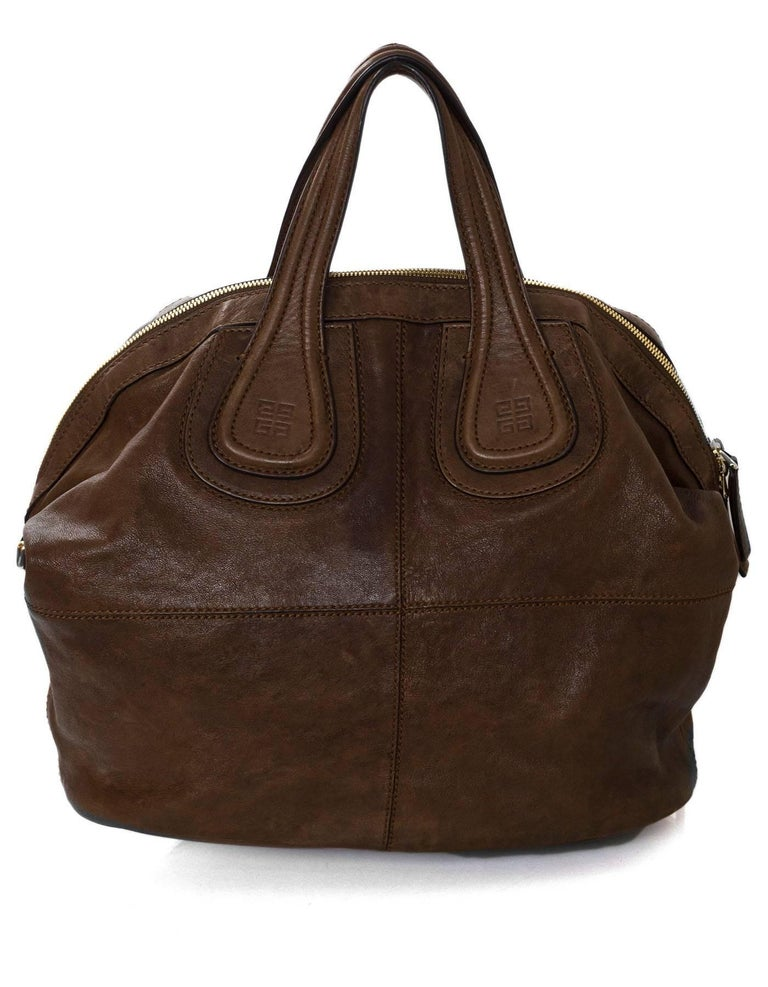 Givenchy Brown Leather Medium Nightingale Satchel Bag In Excellent  Condition For Sale In New York 86d7b3d675c0d