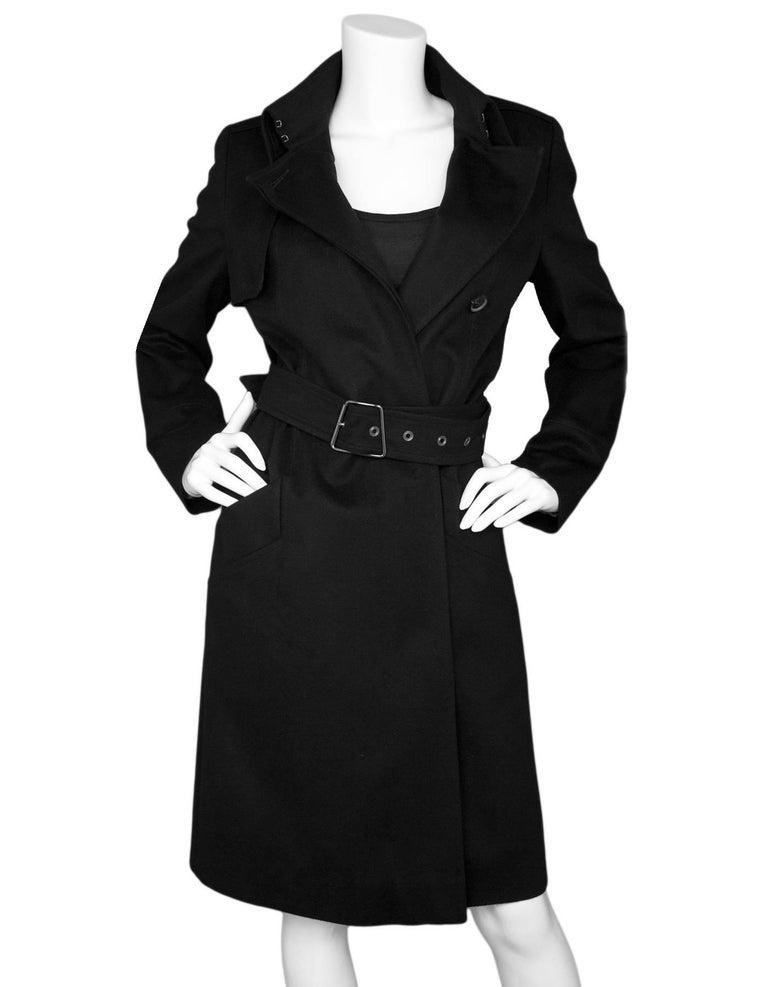 f229869b29 Akris Black Cashmere Exclusive Bergdorf Goodman 111th Anniversary Coat Sz  US 6 Made In  Switzerland