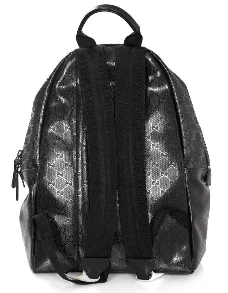 a0dea825ef9 Gucci Unisex Black Like New GG Imprime Backpack Bag In Excellent Condition  For Sale In New