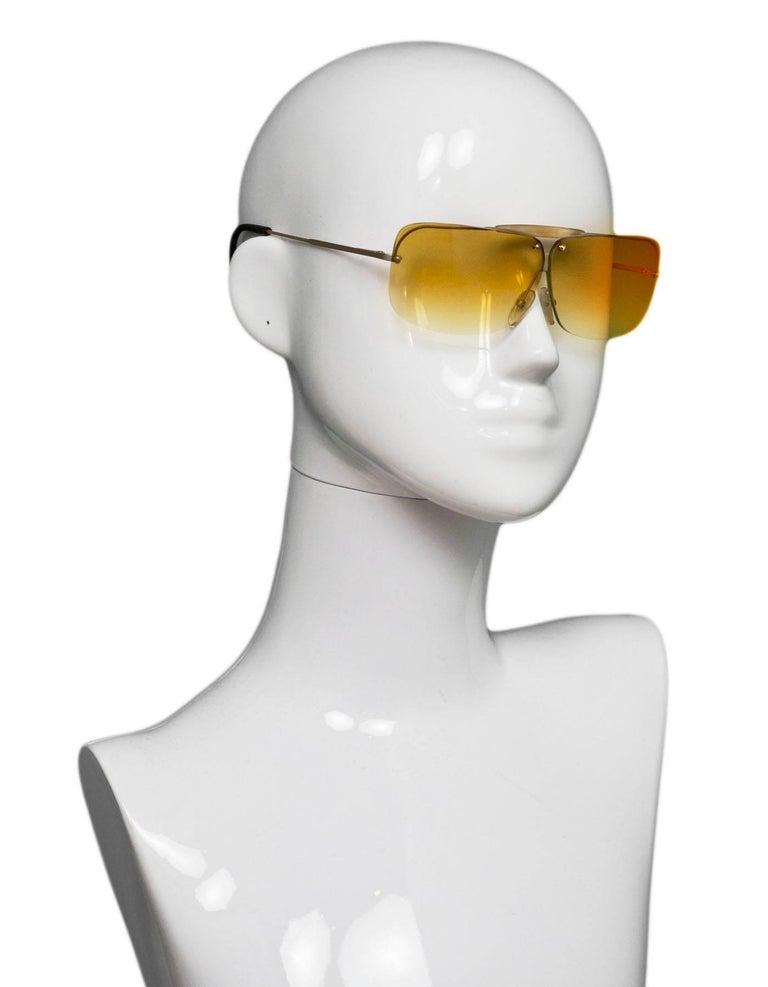62dd682091ec Bottega Veneta Vintage Ombre Sunglasses Made In  Italy Color  Yellow  Materials  Resin